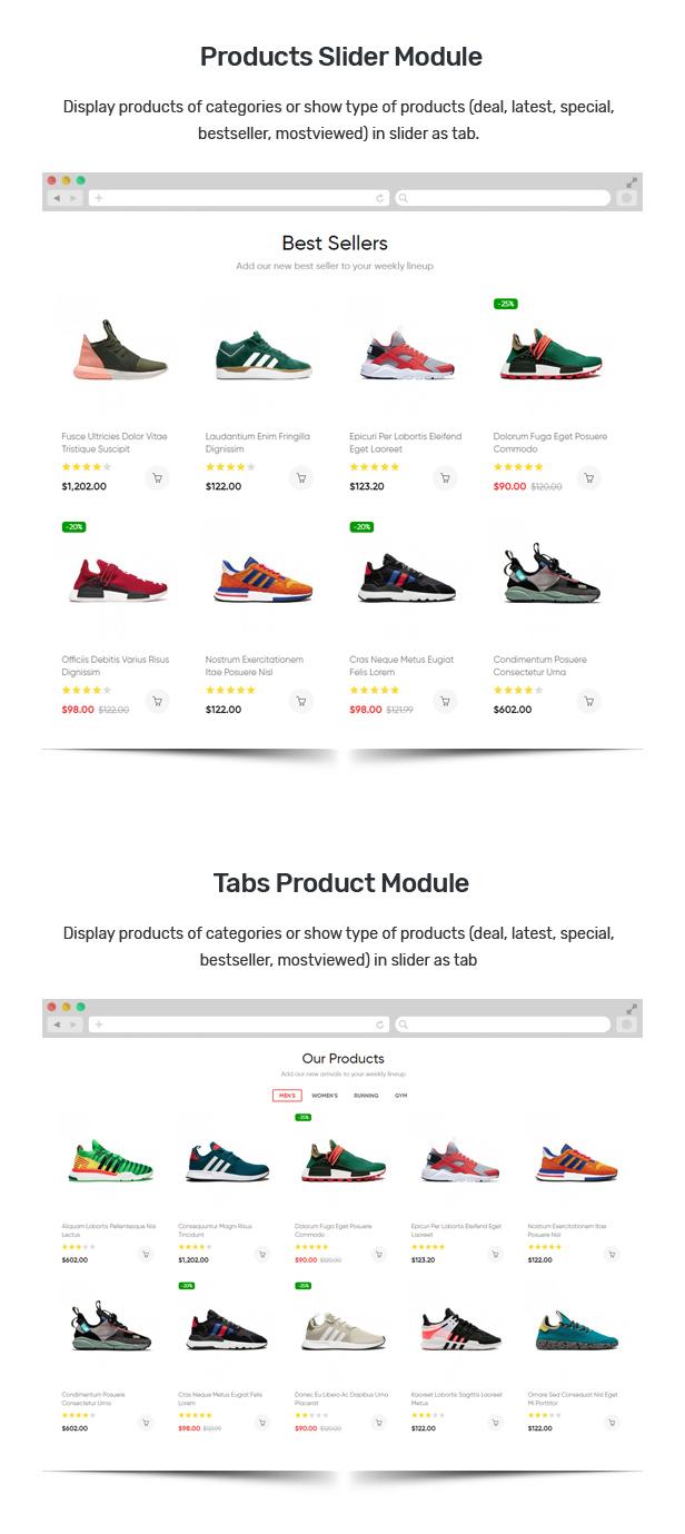 Junno - 响应式多用途在线商店Opencart模板 - 仿牌运动鞋最佳主题