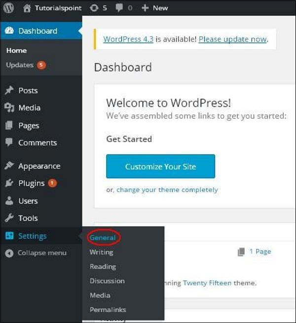 WordPress 通用设置