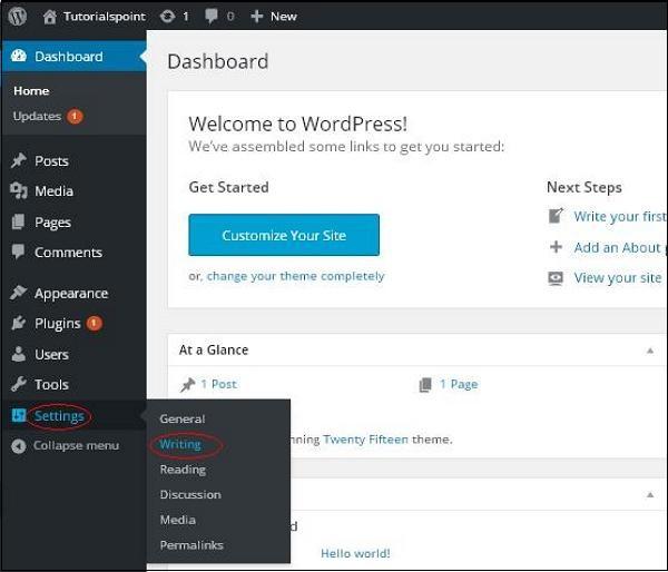 WordPress 写作设置