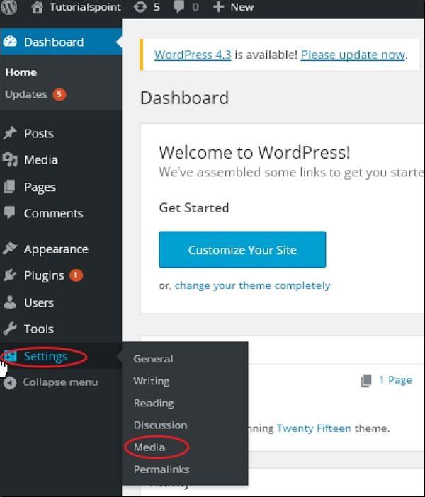 WordPress 媒体设置