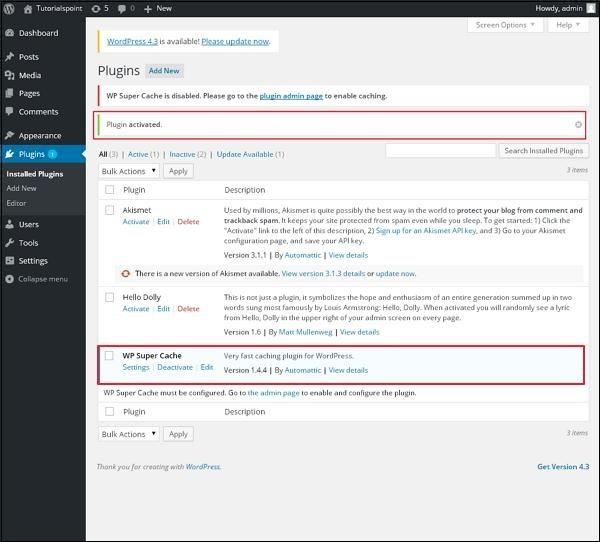 WordPress 插件设置