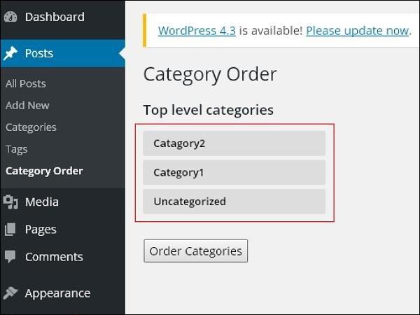 WordPress 分类安排