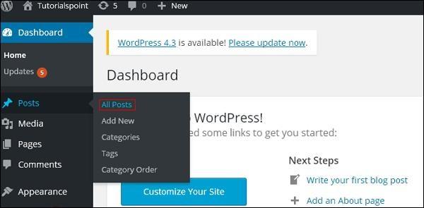WordPress 编辑帖子