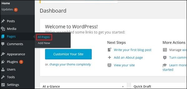 WordPress 编辑页面