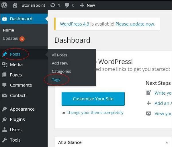 WordPress 编辑标签