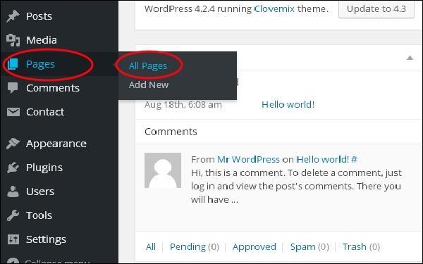 WordPress 添加链接
