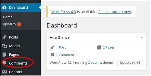 WordPress 编辑评论