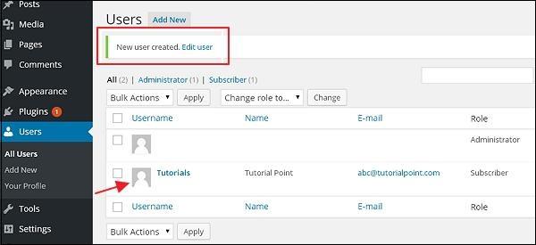 WordPress 添加用户