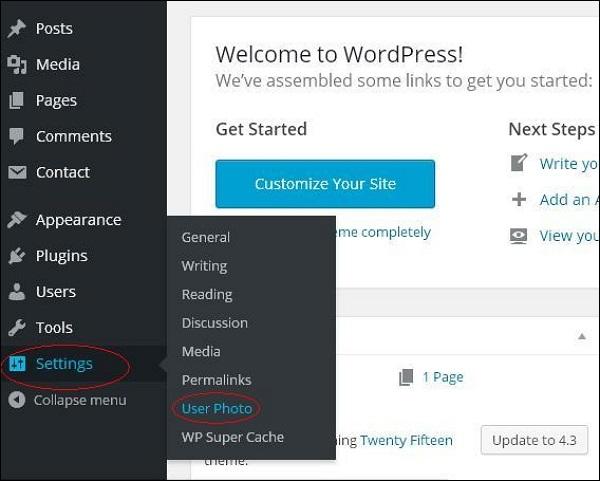 WordPress 用户照片