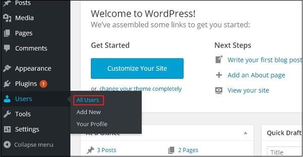WordPress 编辑用户