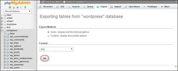 WordPress 备份和恢复