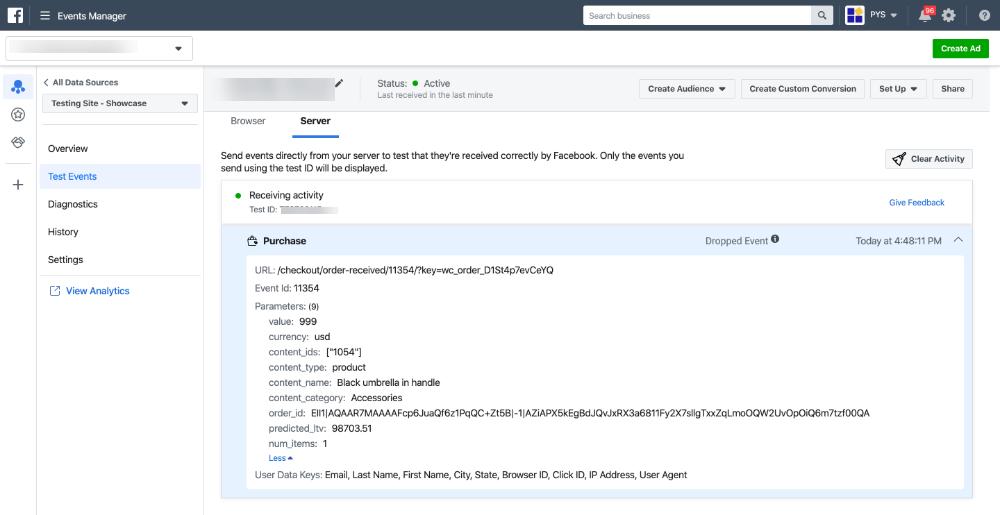 配置转换 API 事件