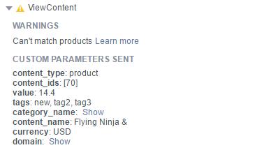 Facebook 参数ID 设置